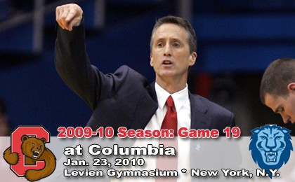 Cornell vs Columbia Basketball 23-Jan-2010 - CU Coach Steve Donahue