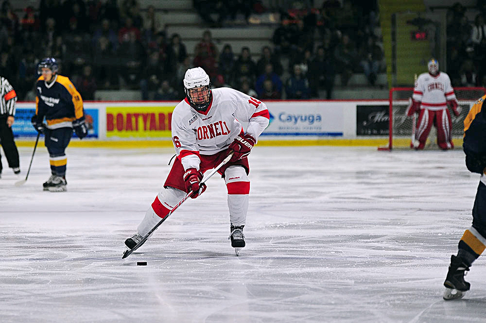 Junior Matt Buckles netted two goals in Cornell's 5-2 win over Ryerson. (Brittney Chew / News Photography Editor)