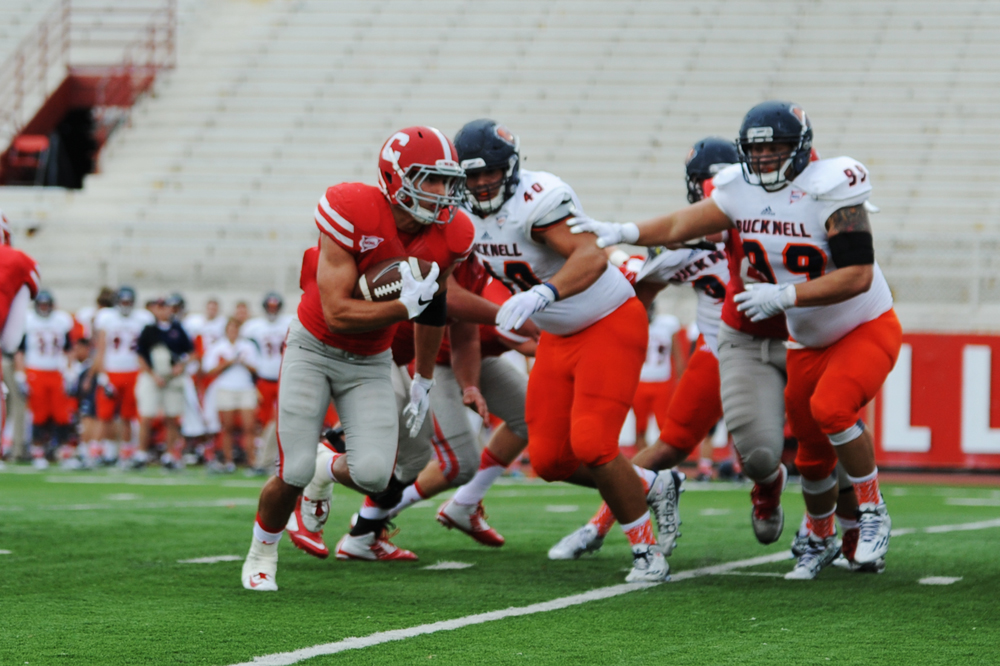 Brittney Chew / Sun News Photography Editor Though Cornell has lost its first five games, the team still remains hopeful heading into its game against Brown. However, senior running back Luke Hagy, one of the Red's key players, was injured last weekend.