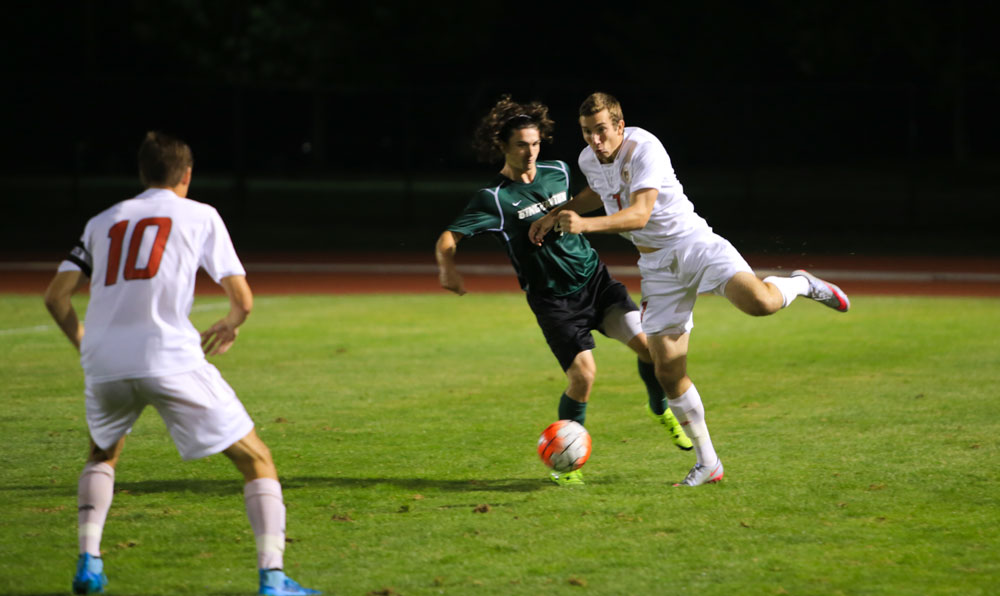 Connor Smith / Sun Contributor  Although the men's soccer team dropped its last two games, head coach Jaro Zawislan has hope for the team's upcoming matches.
