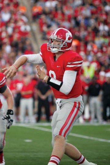 Jeff Mathews '13 shattered Cornell program records at quarterback.