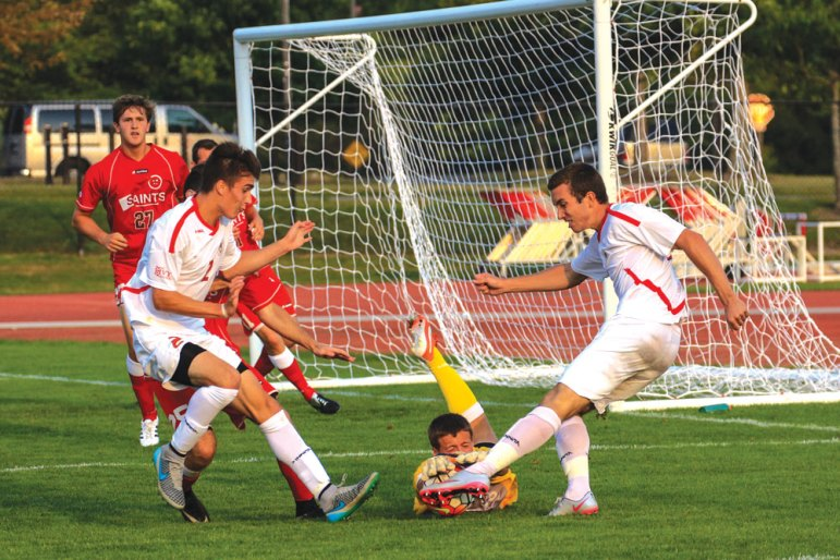 Dana Daniels / Sun Staff Photographer Sophomore Jonathan Cullom, pictured above, and junior Liam Crotty created a slew of scoring opportunities for the Red in its game against Harvard.