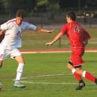 Dana Daniels / Sun Staff Photographer  Men's Soccer #2 Ryan Bayne vs St. Lawrence @Berman Field W [2-0]  Saturday August 29, 2015