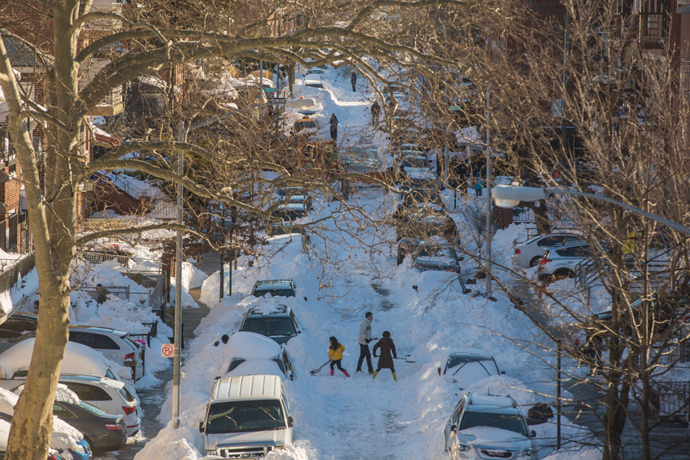 Students struggled to return to campus in the aftermath of winter storm Jonas.