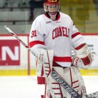 Junior goalie Paula Voorheis' solid effort in net wasn't enough as Cornell lost a pair of games to Clarkson.