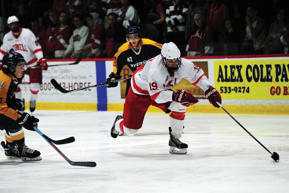 Senior forward Teemu Tiitinen scored his second career goal to tie up Harvard on Friday