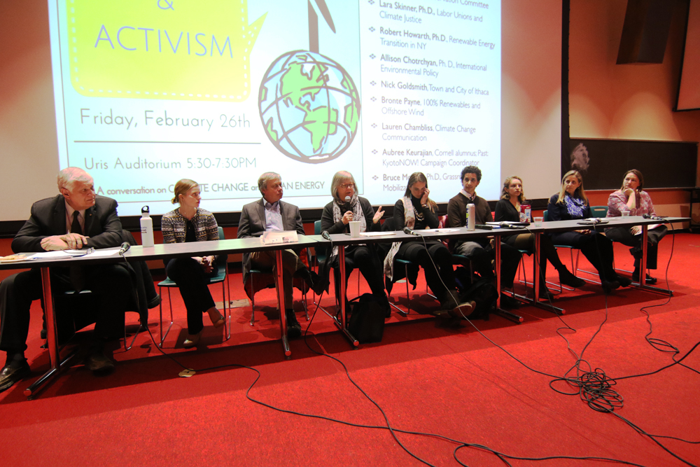 Politicians and Cornellians discuss climate change at conference Friday.