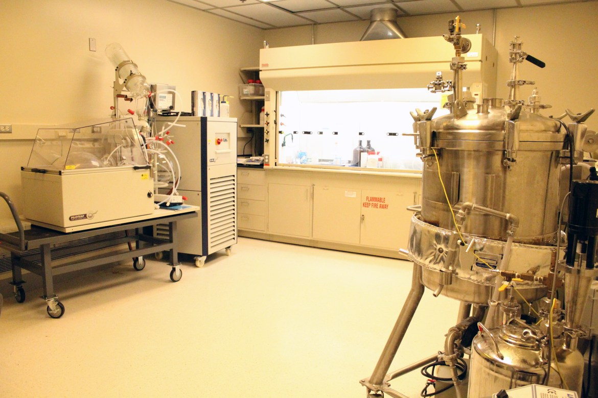 Scale up facility which allows for kilogram scale syntheses to be carried out
