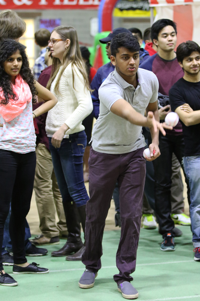 Students enjoy food, games and performances at Cornell's first Big Red Carnival on Friday night.