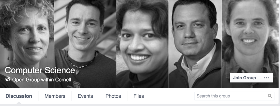 The banner of the Cornell Computer Science Facebook group was changed after students on the group began debating the issue of diversity in Computer Science.