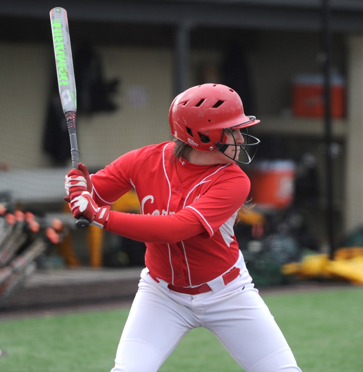 Led by senior centerfielder Meg Parker's four RBI's, the women's softball team picked up its first win of the season over Georgetown.