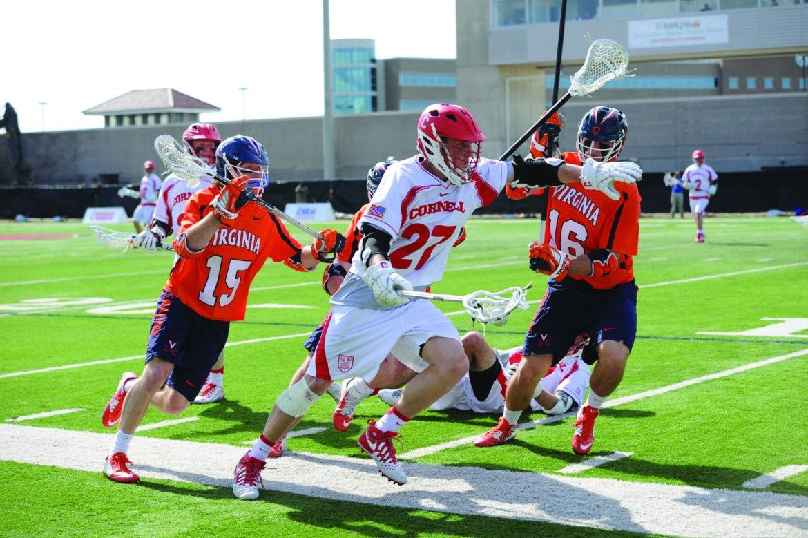 Senior attackman John Edmonds and Cornell will play their first game at home since March 19 when Harvard visits on Saturday.