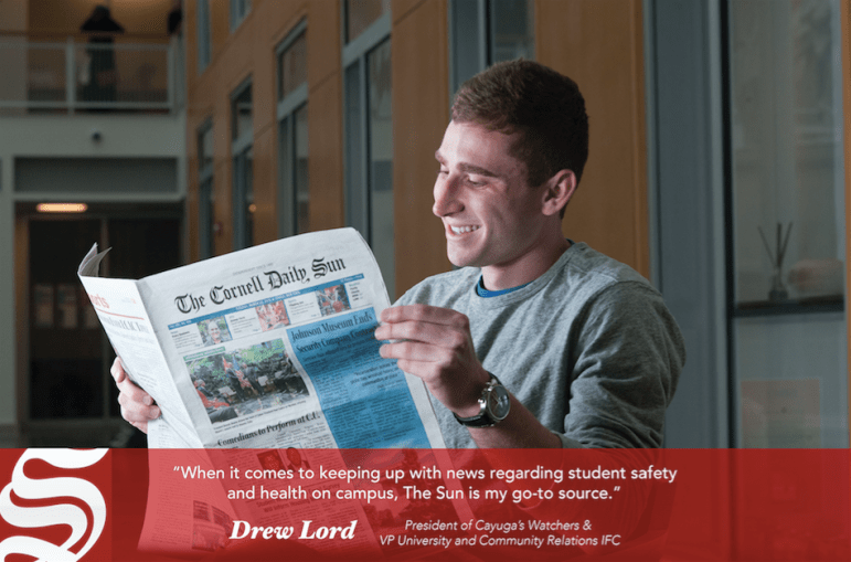 Drew Lord '18, President of Cayuga's Watchers