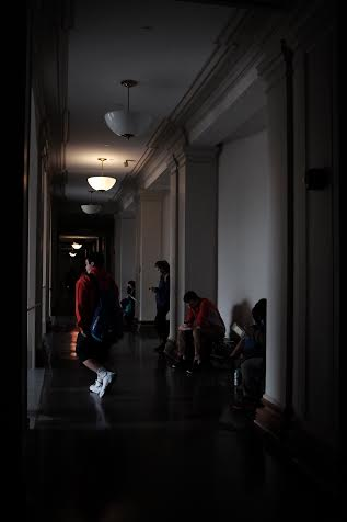 Some students in Goldwin Smith Hall were forced to relocate or cancel classes due to the power outage.