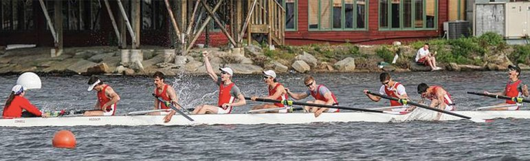 Oprea and the Red beating Yale by one second in the 2014 Eastern Sprints.