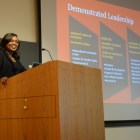 """The Dean of Students candidate relays how she was involved on campus and highlights her  """"demonstrated  leadership."""""""