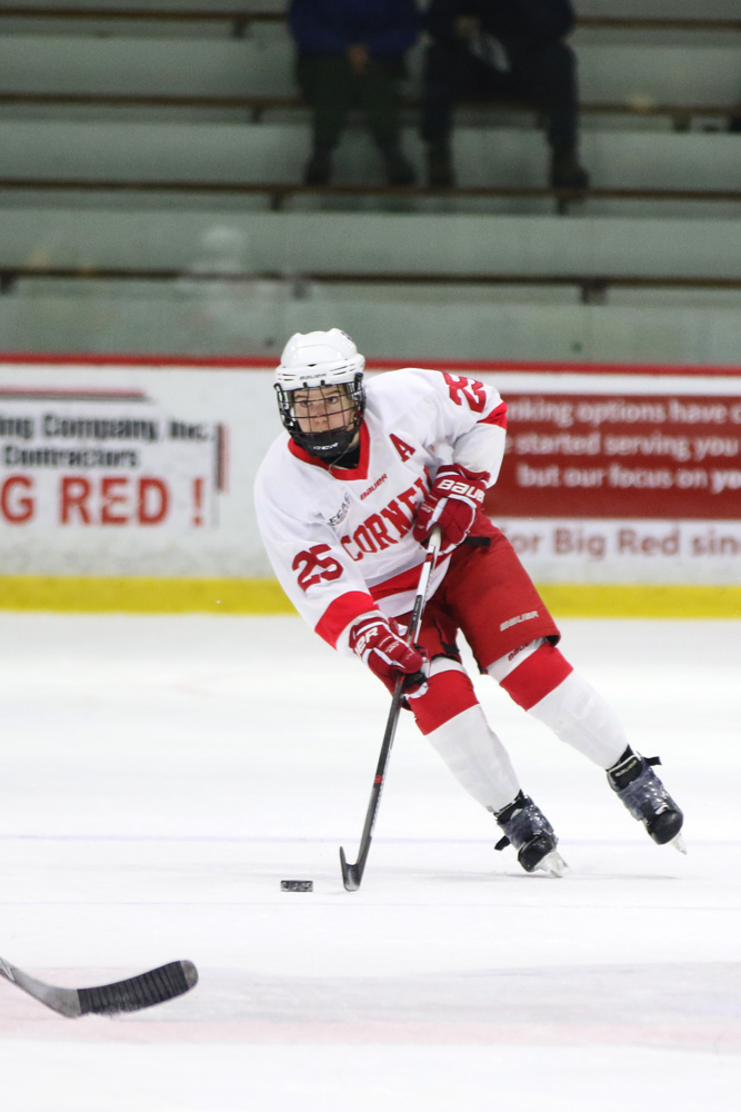 Taylor Woods (pictured) and Cassandra Poudrier are now the ninth and 10th ex-Cornell women playing professional hockey.