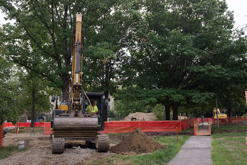 Renovations are expected to continue on the Ag Quad throughout the next academic year.