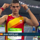 Hortelano-Roig '14 finished first place in his first heat, recording a better time than Usain Bolt.