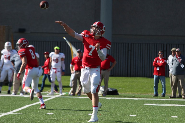 Sophomore quarterback Dalton Banks will seek to turn around the Red's recent struggles against Princeton on Saturday.
