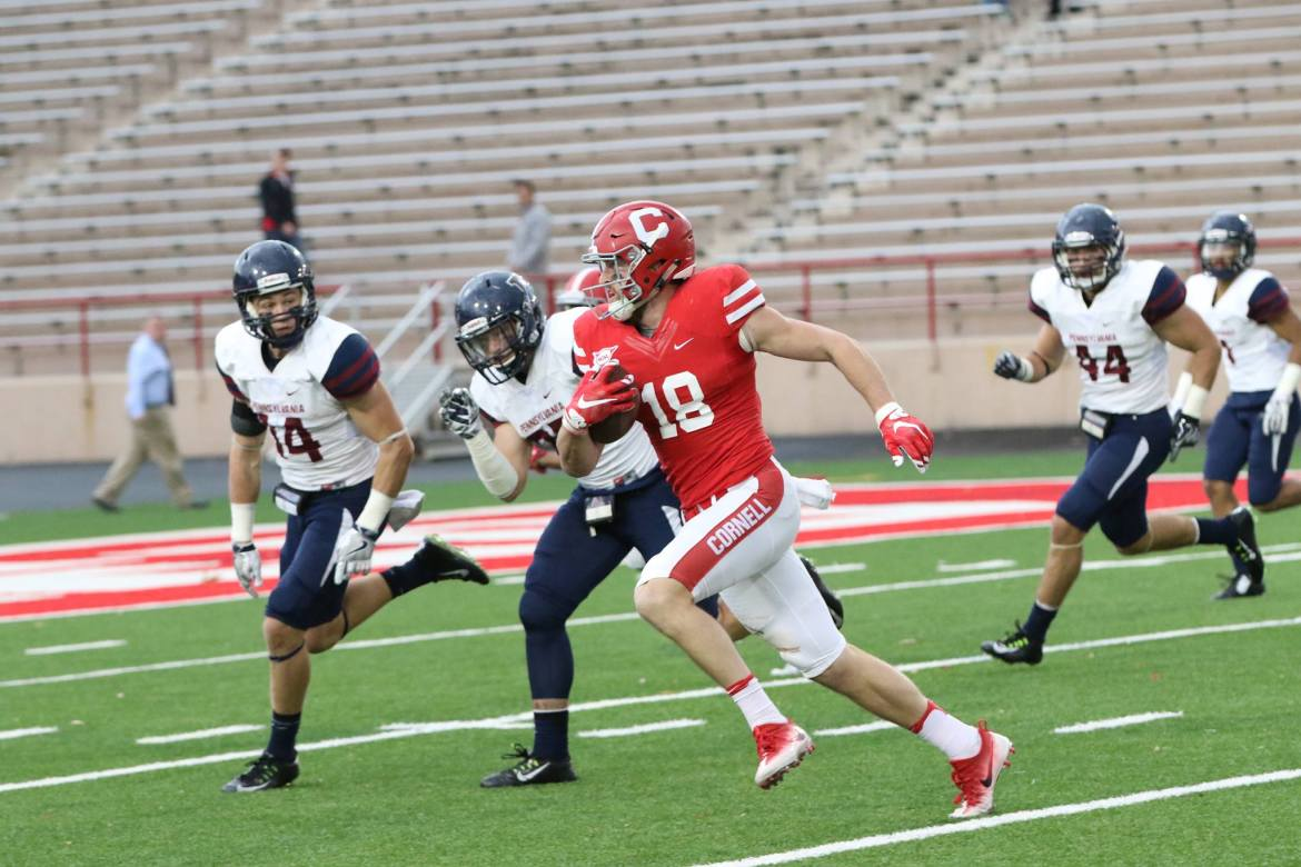 Senior wide receiver Ben Rogers caught for 84 yards today, but it was his throwing capabilities that were highlighted in his final career game.