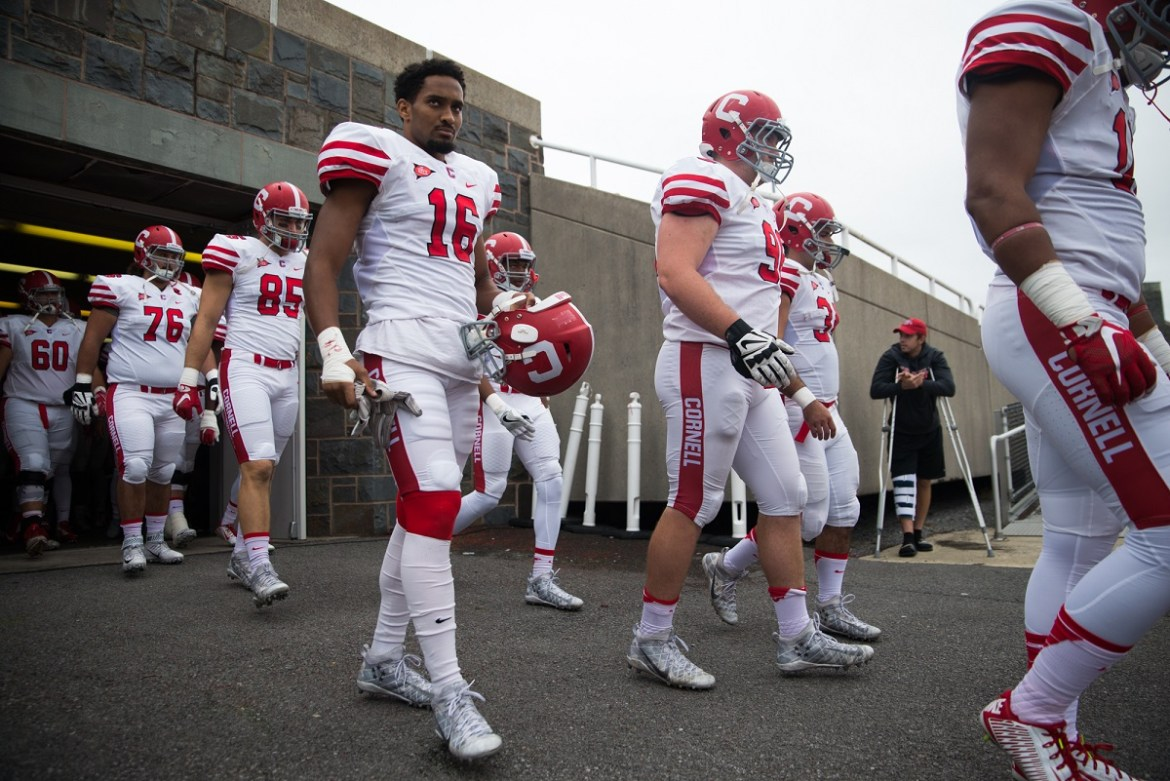 Senior defensive back Justin Solomon (#16) will be playing in his final career game for Cornell, along with 25 other seniors.
