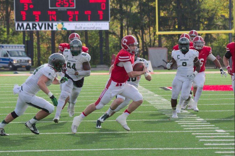 Sophomore quarterback Dalton Banks and the offense focused on a small ball strategy against Dartmouth. In the first half, only one of 16 completions was for more than 10 yards.
