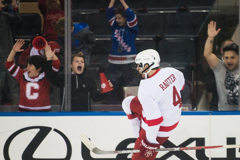 Junior forward Alex Rauter's penalty goal in the third period was Cornell's first since 1986.