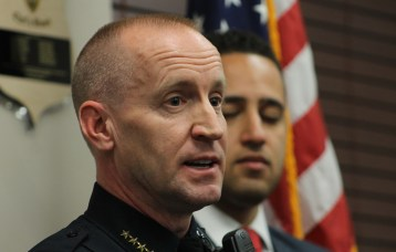 Chief John Barber discusses the details of the arrest and incident at Monday evening's press conference.