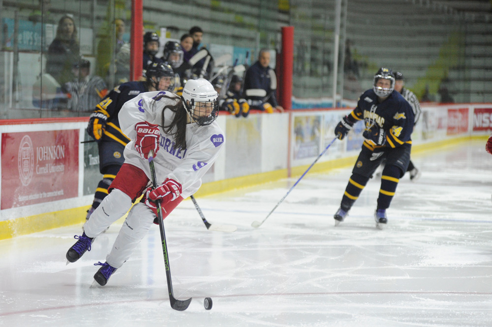 Senior forward Hanna Bunton had only two points heading into the weekend, but walked away with a hat trick and two assists en route to Cornell women's hockey sweep of Brown and Yale.