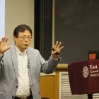 Prof. Shanjun Li, applied economics and management, reanalyzed China's pollution problem through an economic lens at a lecture last week.