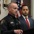 Police Chief John Barber and Mayor Svante Myrick '09 announced Monday that an arrest was made in a stabbing on Cornell's campus.