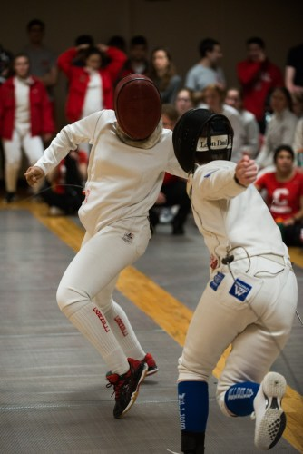 The Red ran into a little trouble in the first match, but easily handled both Carnegie Mellon and Lafayette as the day progressed.