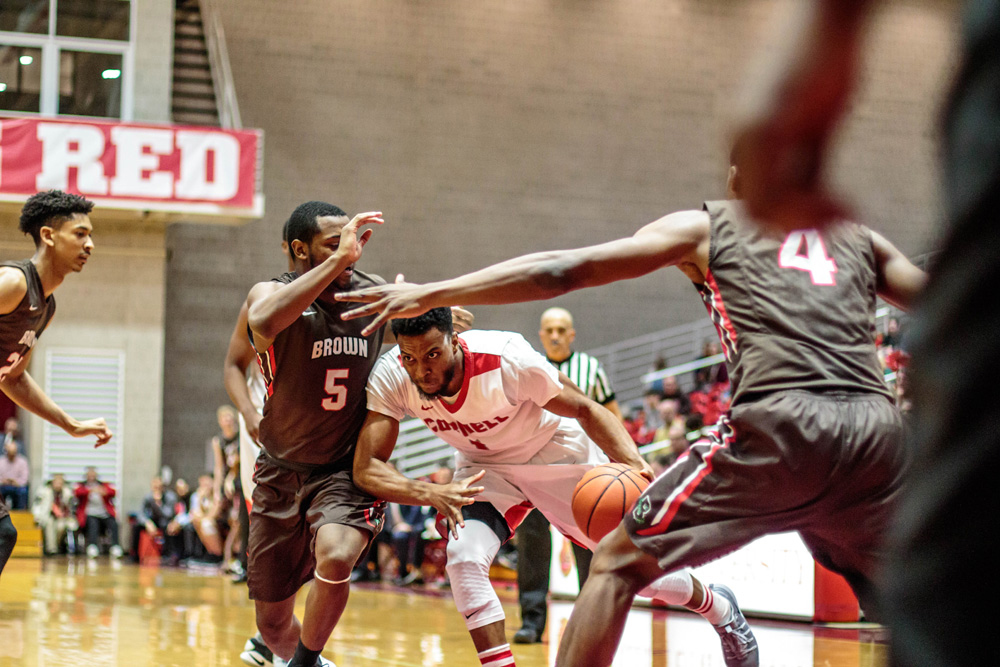 The men's basketball team's playoff hopes took a hit over the weekend, when the Red   dropped both of its games this weekend.