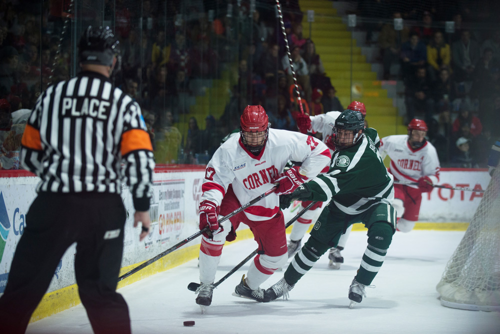 After a four point weekend, Cornell faces short rest with Colgate visiting Tuesday.