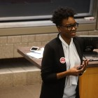 Tiffany Dena Loftin, Racial Justice Program Coordinator of AFL-CIO, delivered the keynote address of the ILR Union Days.