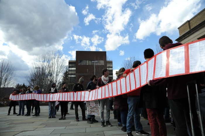 CGSU Petition and March, March 8 2017. (Cameron Pollack / Sun Photography Editor)