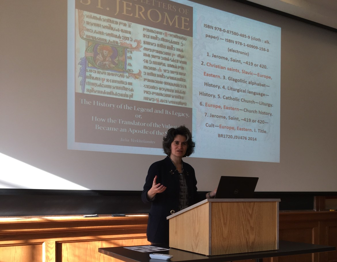 Prof. Julia Verkholantsev, Slavic Languages and Literatures, University of Pennsylvania, lectures on the origin of the Slavonic language.
