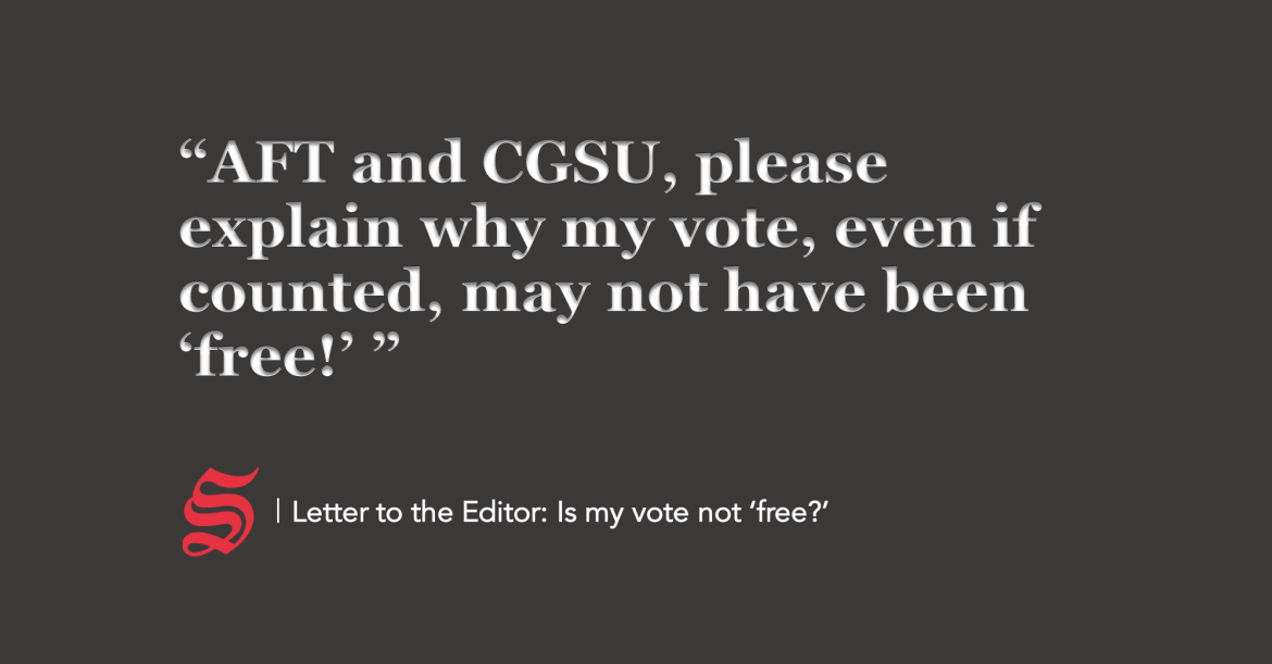 Letter To The Editor Is My Vote Not Free The Cornell Daily Sun