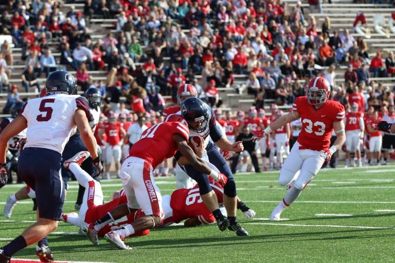 Cornell was unable to halt Penn's championship ceremony last season.