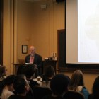Prof. Gregory Zinman, digital media, Georgia Tech, gave a lecture on Tuesday for the Art History Department's Visual Colloquium.