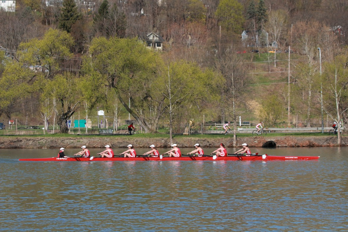 The Red rowed well against a field which included 11 teams ranked within the top 20 this season.