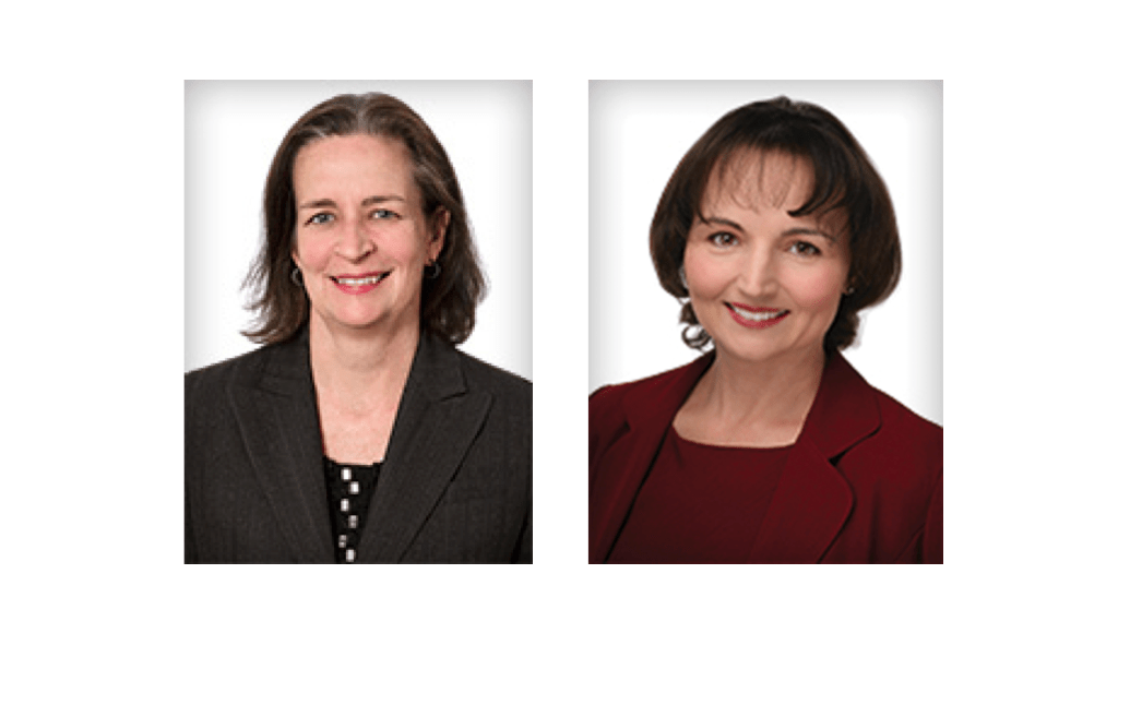 """Anita Meiklejohn '81 and Lauren Degnan '92 were named """"Women Worth Watching"""" by the Profiles in Diversity Journal."""