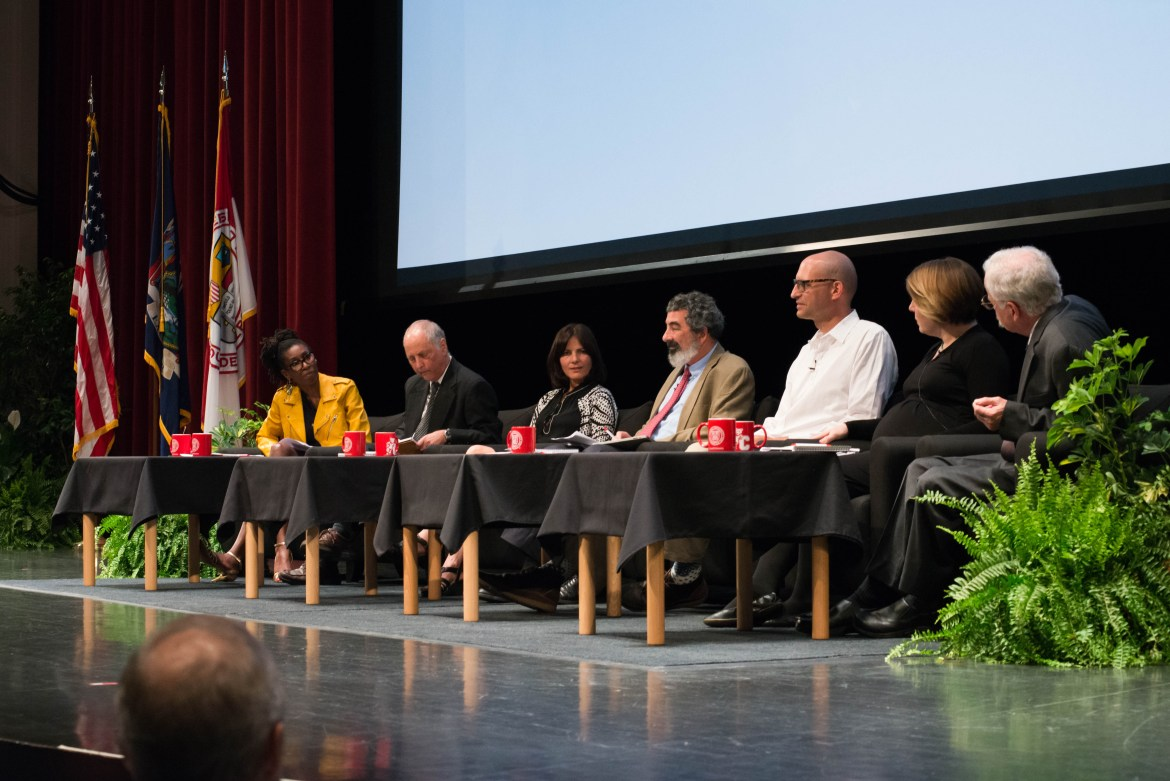 A faculty panel assembles on the eve of President Pollack's inauguration to discuss the role of the truth.