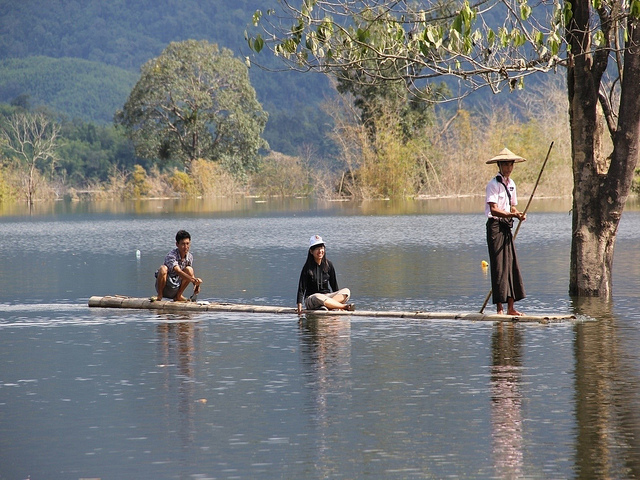 Fishermen in Myanmar, where the Hydro Power Project was based in 2015.