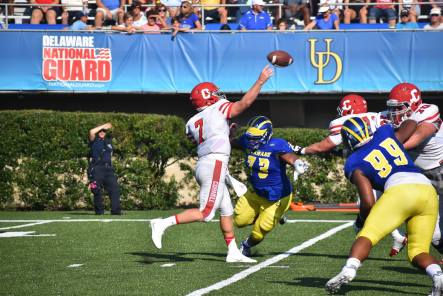 Cornell turned the ball over five times in the first half in last season's 41-14 loss to the Blue Hens.