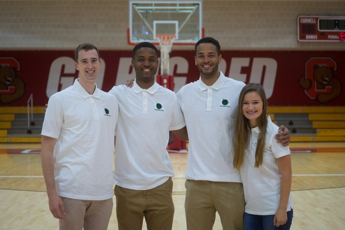 The Ivy Untold team (from left): Kyle Brown, Troy Whiteside, Jordan Abdur-Ra'oof and Katie Kilbourne.