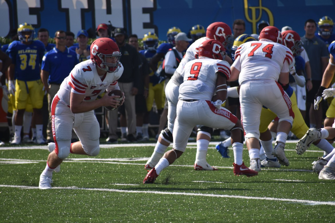 Cornell turned the ball over five times in the first half, but their head coach says it was to no fault of their own.
