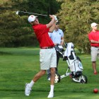 Senior Mike Graboyes finished strong to tie for third place individually alongside classmate Chris Troy.