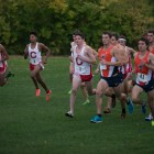 Among the finishes was senior captain Dominic DeLuca's second-fastest eight-kilometer run in school history.